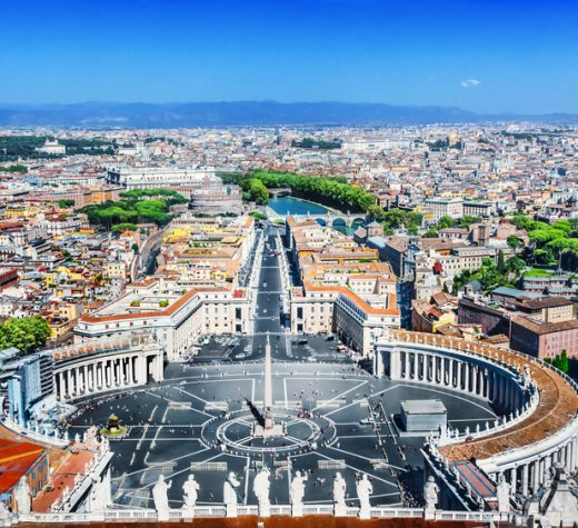 View of the Saint Peter's Square